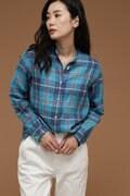 Luxluft リネンチェックシャツ