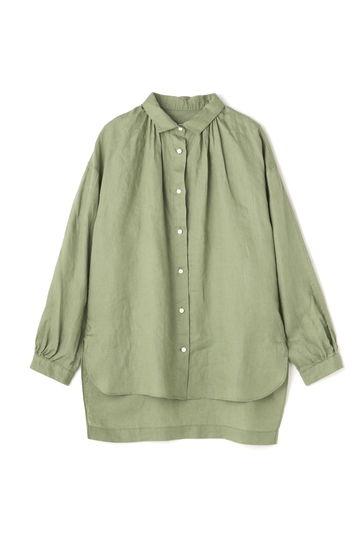Luxluft スプリットラグランリネンシャツ