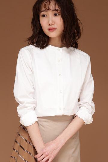 DIRECTOIRE コットンスタンドカラーシャツ