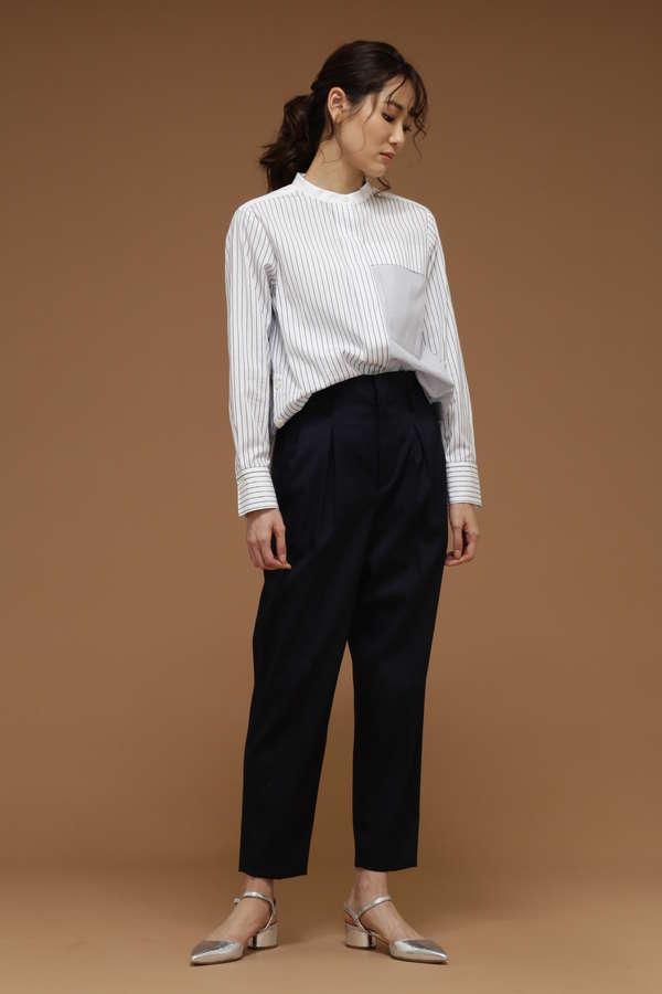 DIRECTOIRE マルチストライプスタンドシャツ