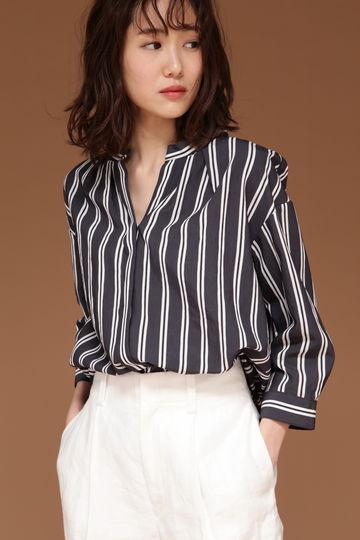 DIRECTOIRE ストライプギャザーシャツ
