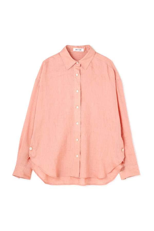 サイドボタンリネンシャツ