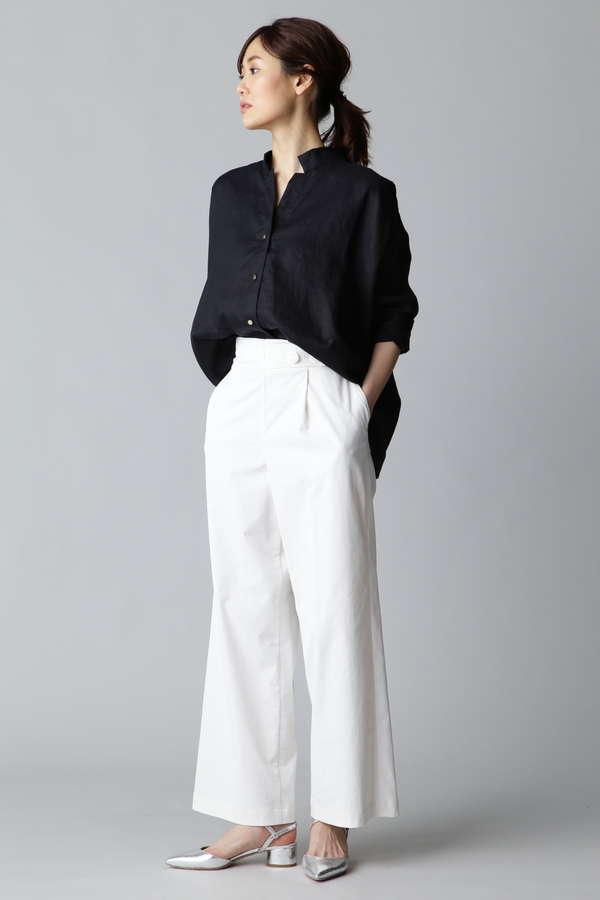 Unaca noir リネンシャツ