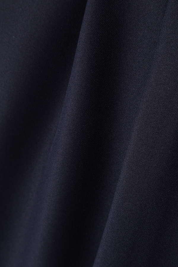 Unaca noir ツイルストレートパンツ