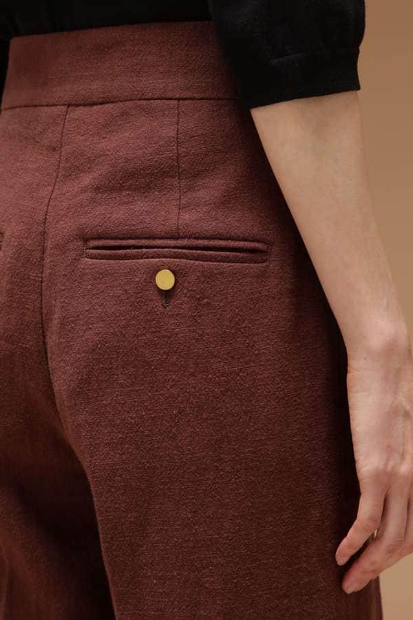 ポケット付きワイドパンツ