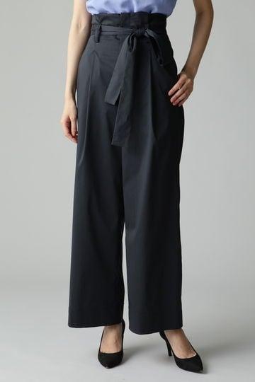 Unaca noir ハイウエストベルトパンツ