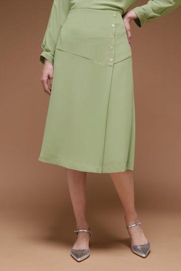 Unaca ソフトフレアースカート