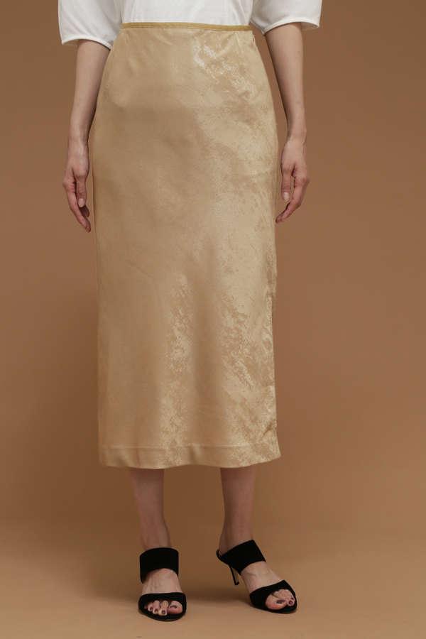 Unaca 箔プリントサイドスリットスカート