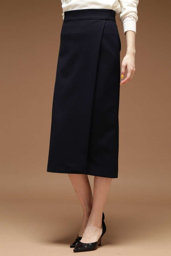 Unaca noir 接結ラップスカート