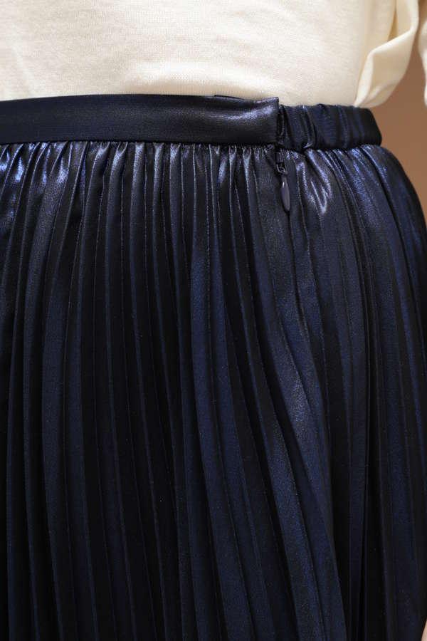 Unaca noir 箔プリントプリーツスカート