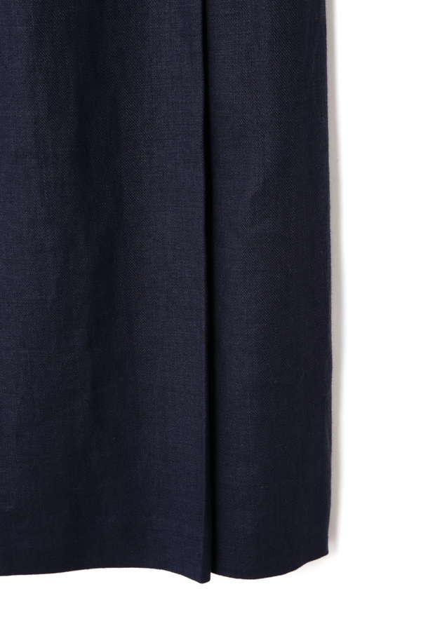 Unaca noir リネンツイルリボンスカート