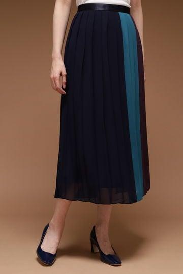 DIRECTOIRE カラーブロックプリーツスカート