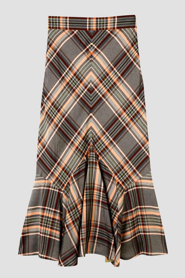 Unaca 裾ランダムフレアロングスカート