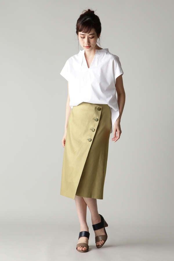 DIRECTOIRE ロゴボタンラップスカート