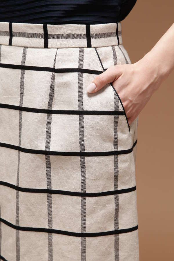 ドビーチェックタイトスカート