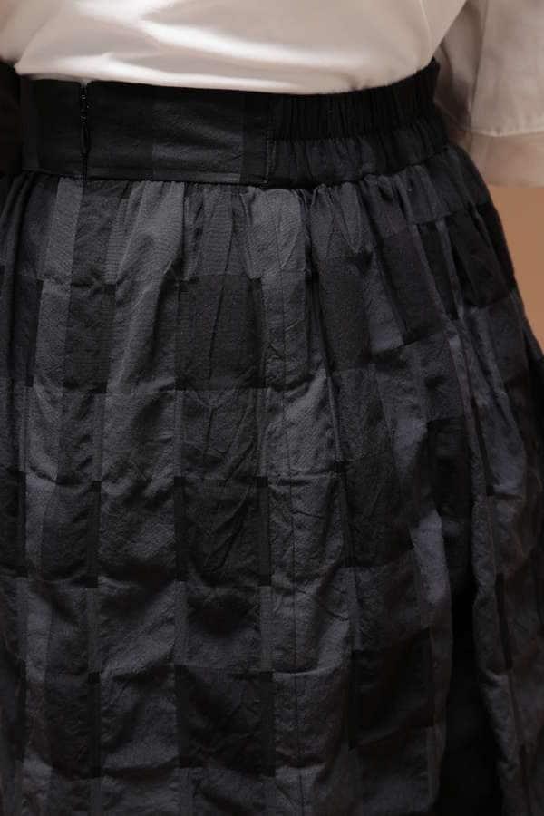 ブロックチェックフレアスカート