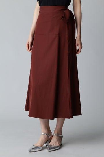 Unaca noir ウエストリボンラップスカート