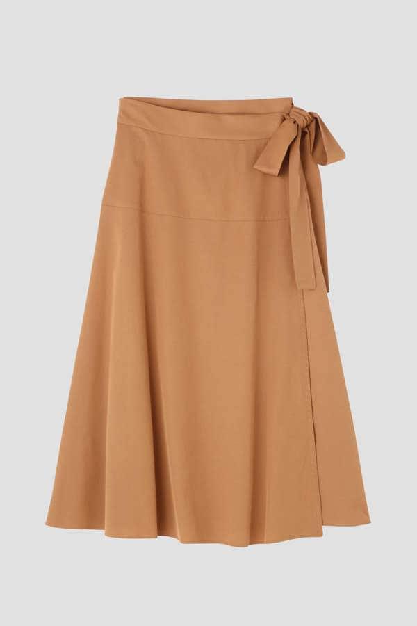 ウエストリボンラップスカート