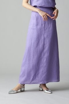 Unaca noir リネンロングスカート
