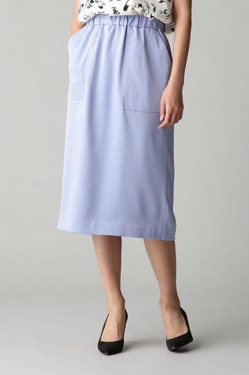 Unaca noir 強撚ツイルタイトスカート