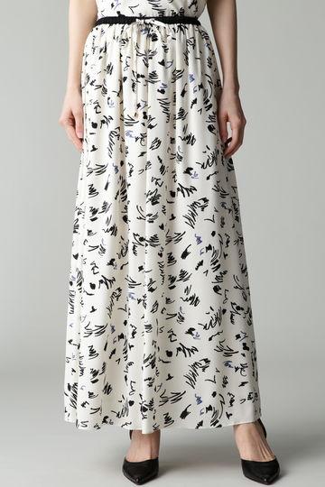 Unaca noir 手書き風プリントスカート