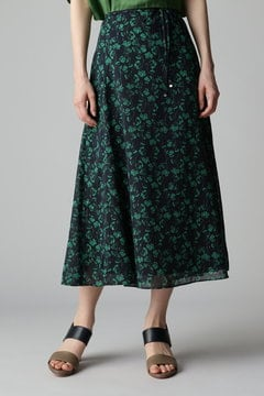 花柄フレアースカート