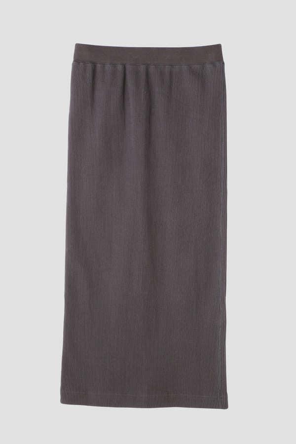 dunadix ワッフルロングタイトスカート