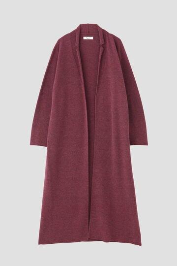 メランジ衿きざみコート