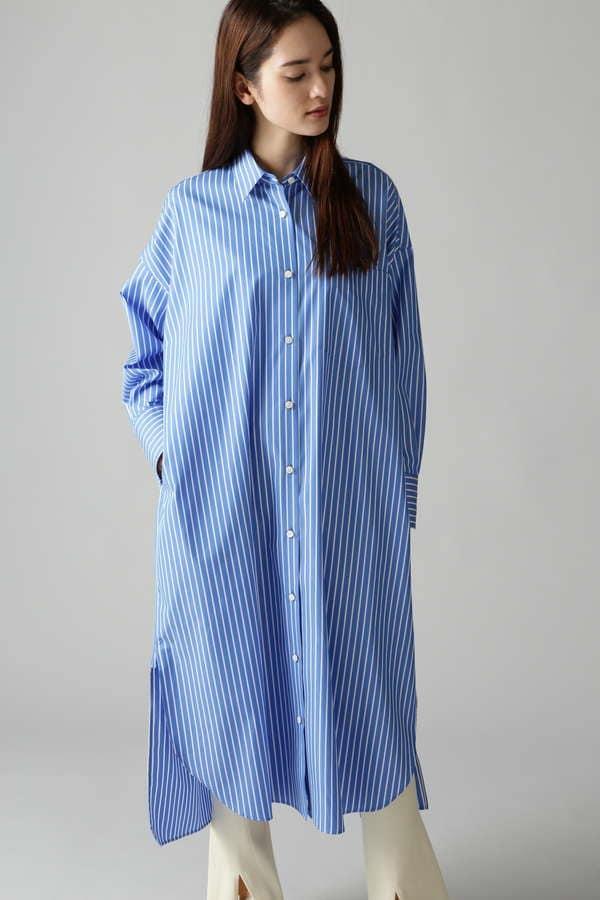 ビッグストライプシャツワンピース