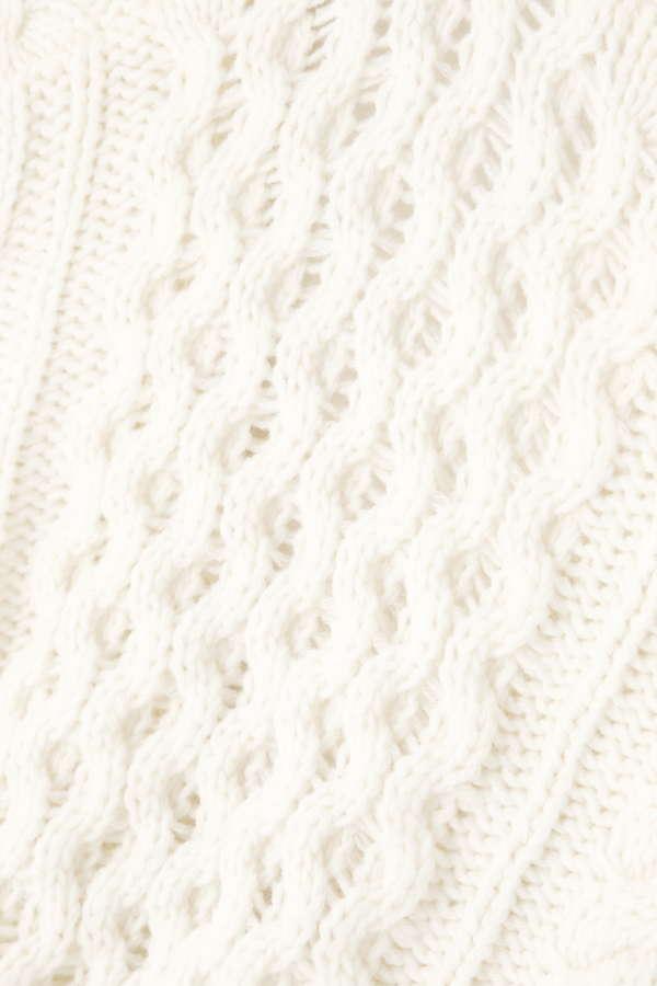 ケーブル編みワイドスリーブカーディガン