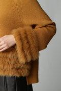 フォックスファー畦編みプルオーバー