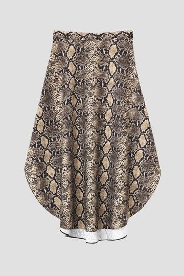 パイソンプリントスカート