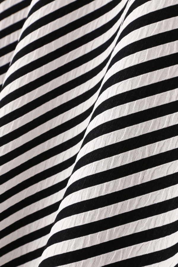 斜めボーダーフレアースカート