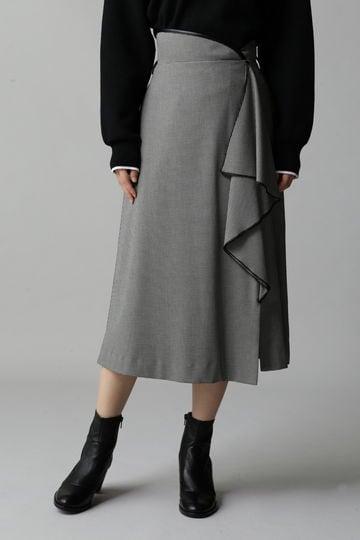 ハイウエストドレープスカート