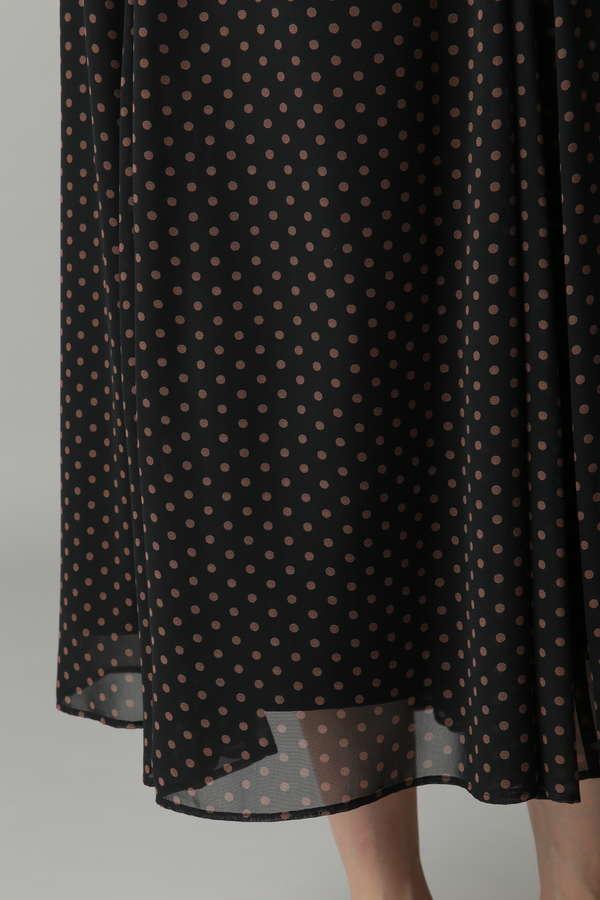 ドットプリントフレアスカート