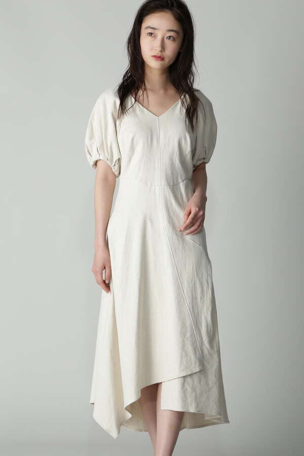 CASA FLINE ボリュームスリーブマーメイドドレス