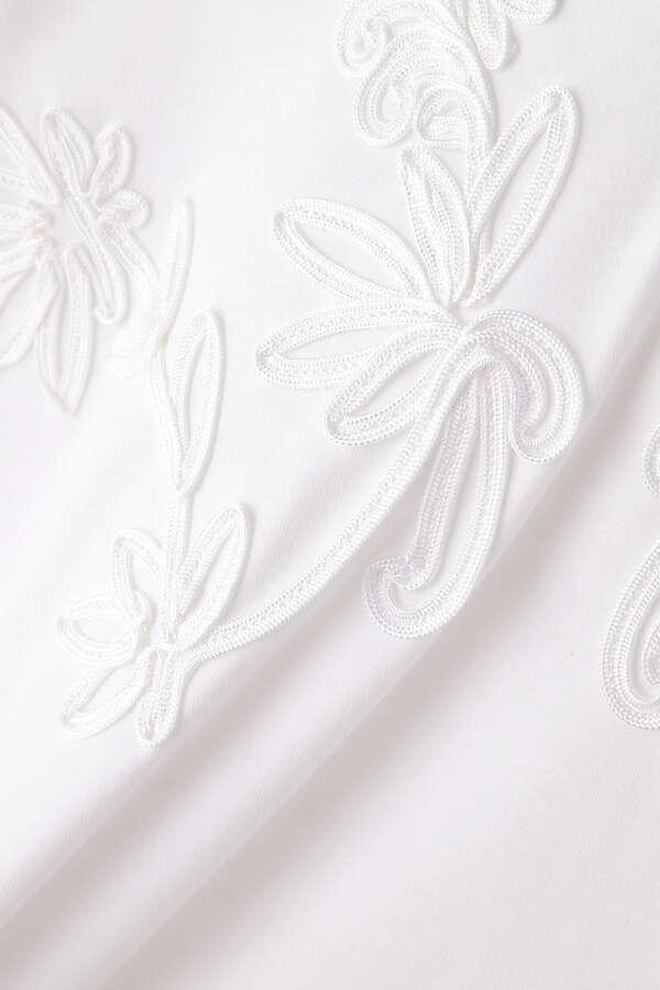 LOKITHO コード刺繍カットソー