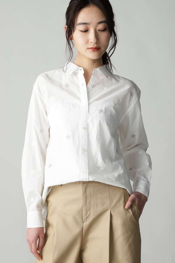 【別注カラー:ブラック】wa...lance 星柄刺繍シャツ