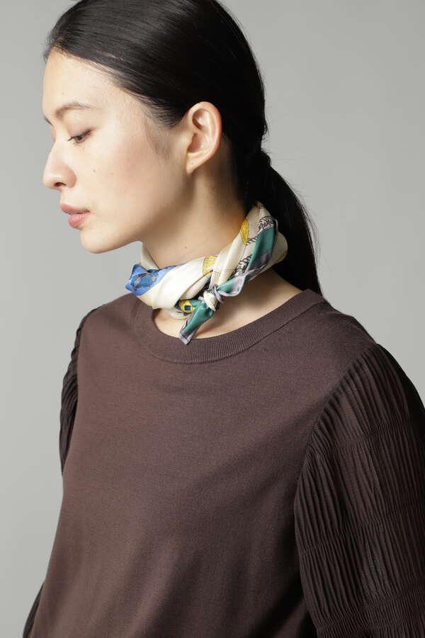 【WEB限定/ネイビー】manipuri シルクスカーフ