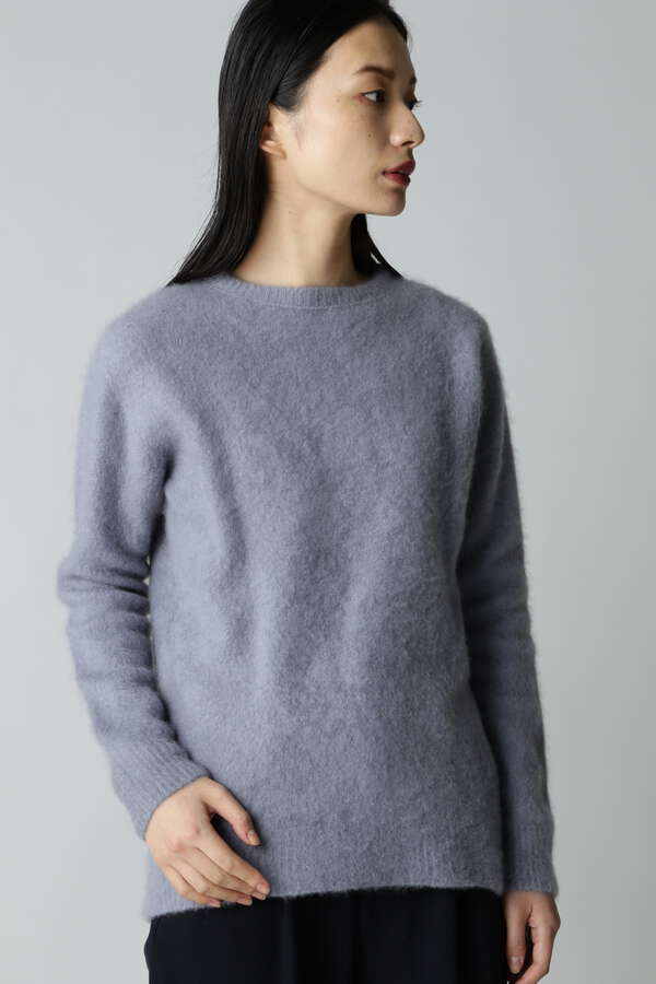ATON/FUR CASHMERE CREWNECK SWEATER