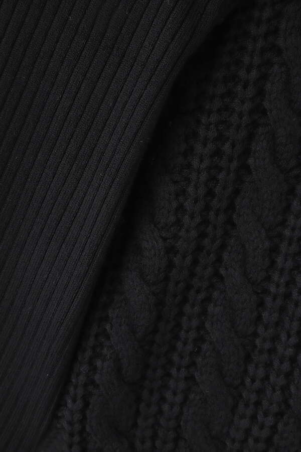 esta'nder/Cable Sleeve Knit PullOver