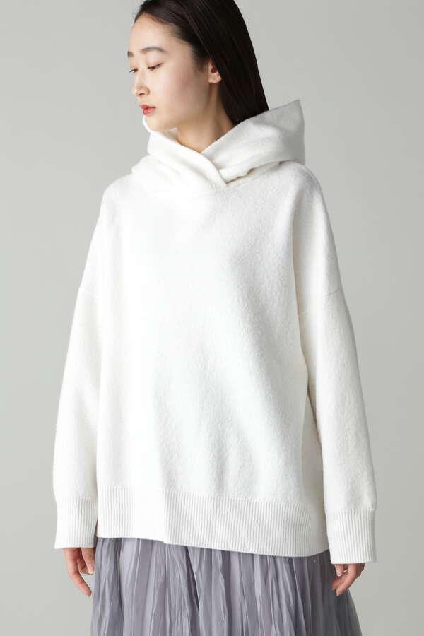 esta'nder/Boiled Wool Knit Parker
