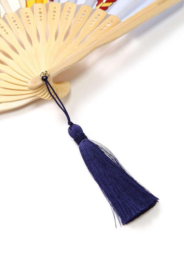 manipuri スカーフ柄扇子