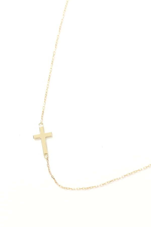 les bonbon CROSS SIDE NECKLACE