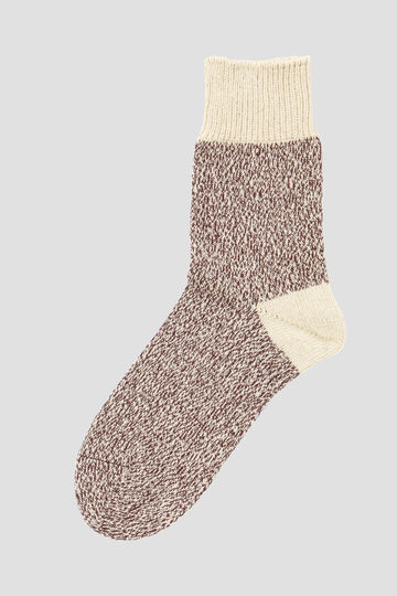 MELANGE COTTON LINEN SOCK_040