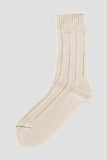 ROUGH COTTON LINEN SOCK_042