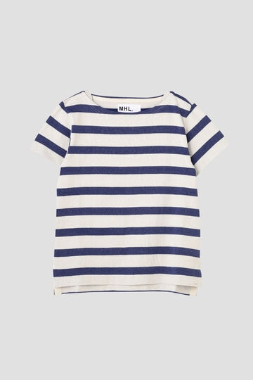 FADED STRIPE COTTON JERSEY