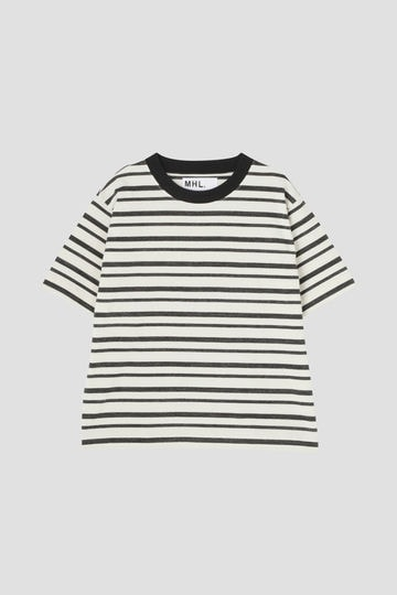 MELANGE STRIPE COTTON JERSEY