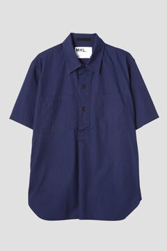 INDIGO COTTON POPLIN