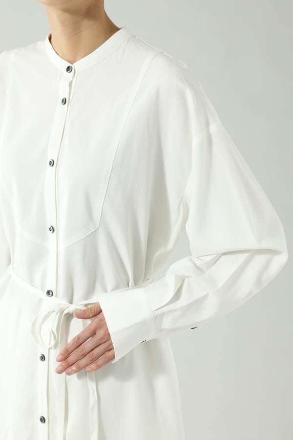 ロングシャツブラウス